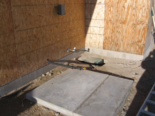 Willcox house progress 52 for Ac condenser pad installation